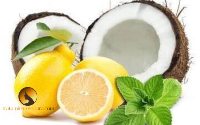 mascarilla de coco y limon para eliminar la caspa