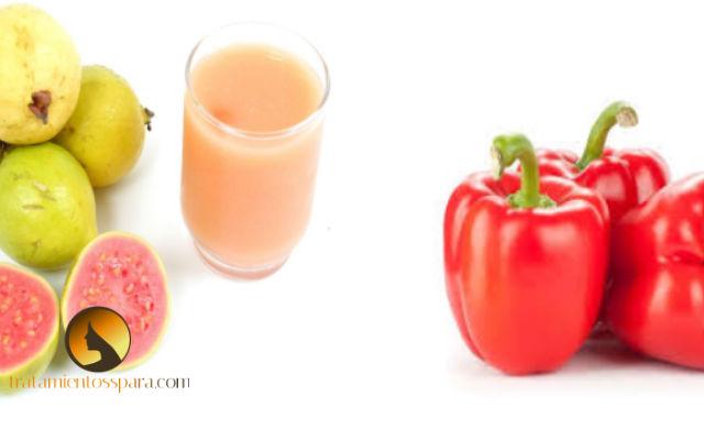 jugo de guayaba y pimiento rojo para curar el dengue