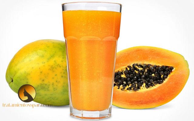 jugo de papaya para los ovarios