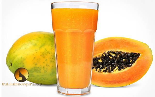 sumo de papaya bacteria Helicobacter pylori