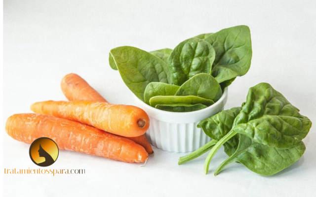 sumos de zanahoria y espinaca